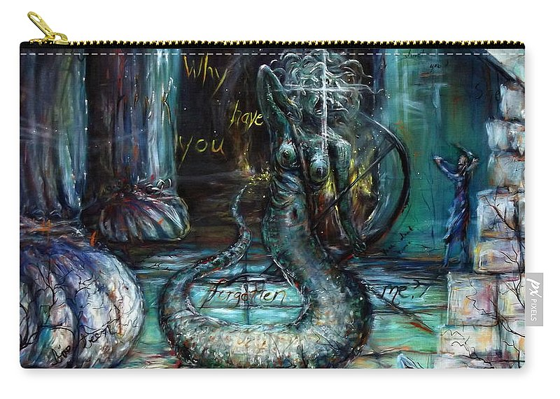 Medusa Carry-all Pouch featuring the painting Medusa by Heather Calderon
