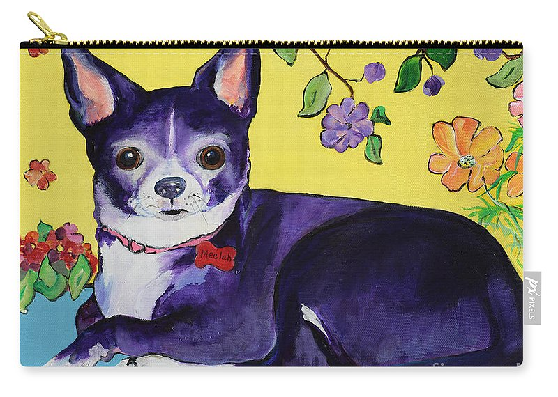 Carry-all Pouch featuring the painting Meelah by Pat Saunders-White