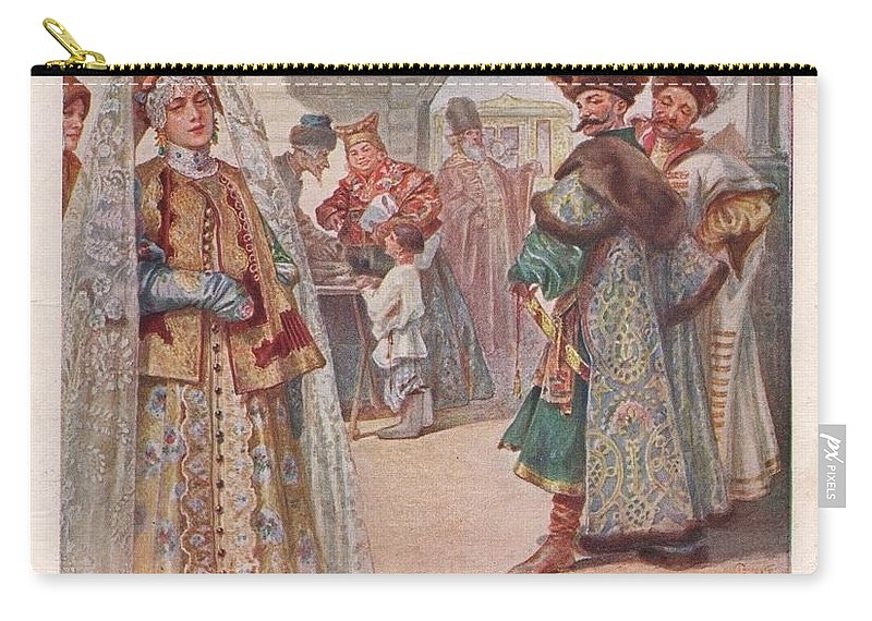 Vestment Carry-all Pouch featuring the digital art Meeting 1 Sergey Sergeyevich Solomko by Eloisa Mannion