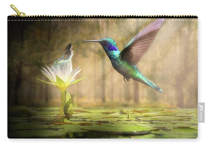 Wildlife Carry-all Pouch featuring the digital art Meeting Mother Nature by Nathan Wright