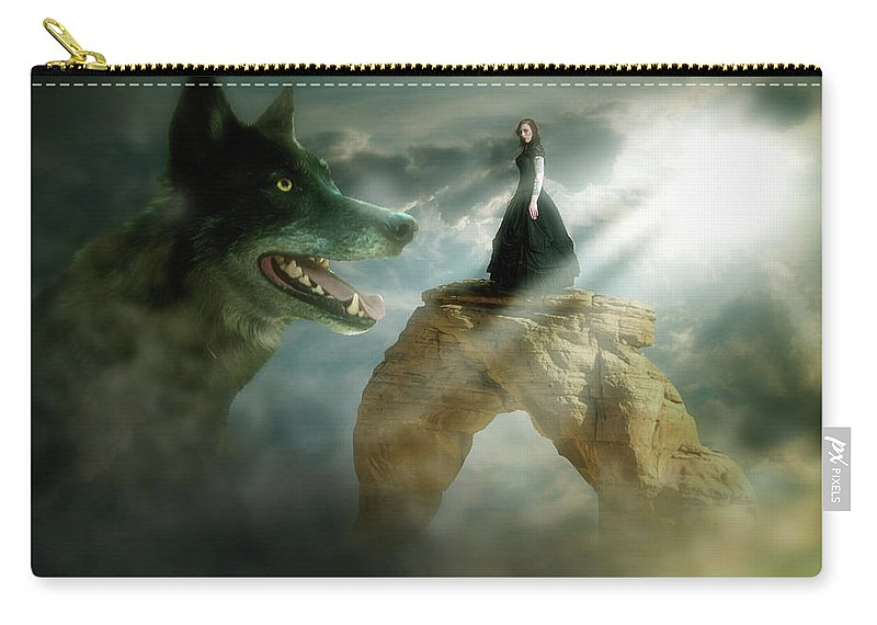 Surreal Carry-all Pouch featuring the digital art Meeting Of Souls by Nathan Wright
