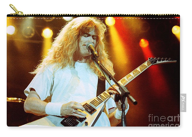 Megadeath Carry-all Pouch featuring the photograph Megadeath 93-dave-0366 by Timothy Bischoff