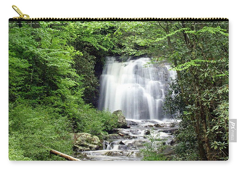 Meigs Falls Carry-all Pouch featuring the photograph Meigs Falls by Marty Koch