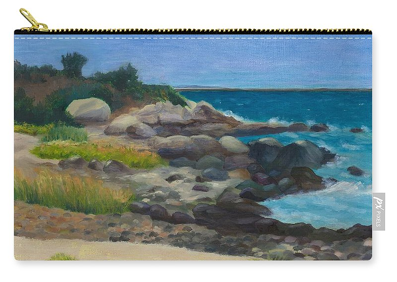 Landscape Carry-all Pouch featuring the painting Meigs Point by Paula Emery