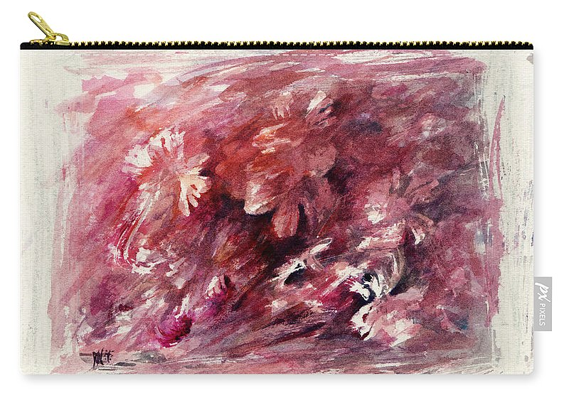 Floral Carry-all Pouch featuring the painting Melancholic Moment by Rachel Christine Nowicki