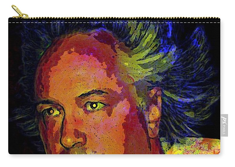 Melange Carry-all Pouch featuring the digital art Melange User by Ron Bissett