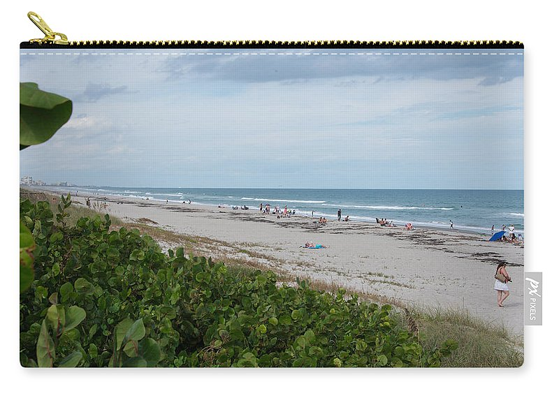 Melbourne Beach Carry-all Pouch featuring the photograph Melbourne Beach Florida November View by JG Thompson