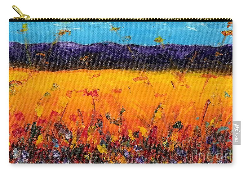 Meadows Carry-all Pouch featuring the painting Melissa's Meadow by Frances Marino