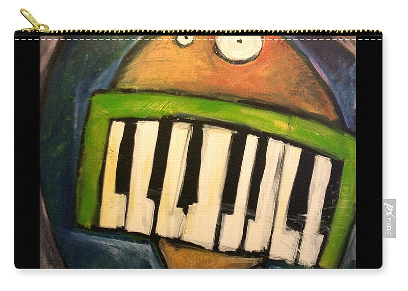 Funny Carry-all Pouch featuring the painting Melodica Mouth by Tim Nyberg