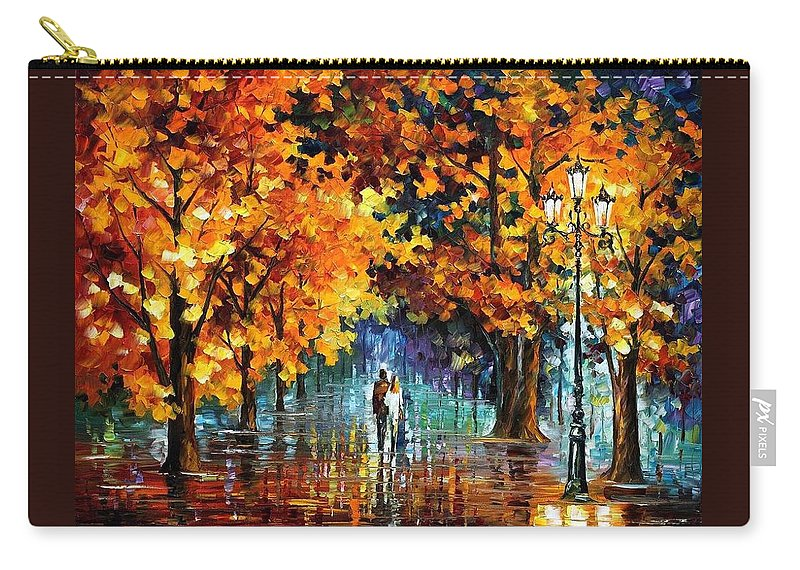 Afremov Carry-all Pouch featuring the painting Melodies From The Past by Leonid Afremov