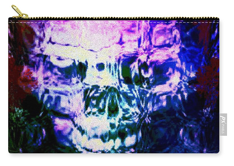Abstract Carry-all Pouch featuring the digital art Melt by JD Poplin