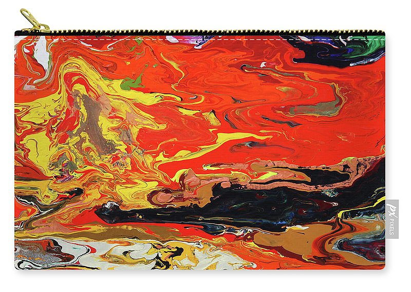 Fusionart Carry-all Pouch featuring the painting Melt by Ralph White