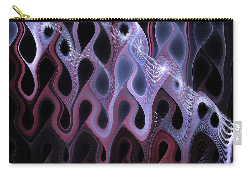 Digital Art Carry-all Pouch featuring the digital art Meltdown by Amanda Moore
