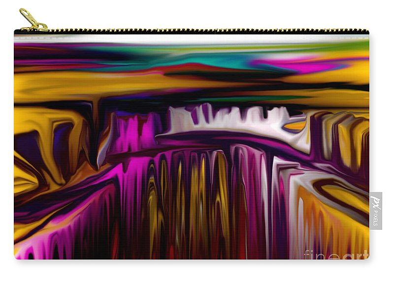 Abstract Carry-all Pouch featuring the digital art Melting by David Lane
