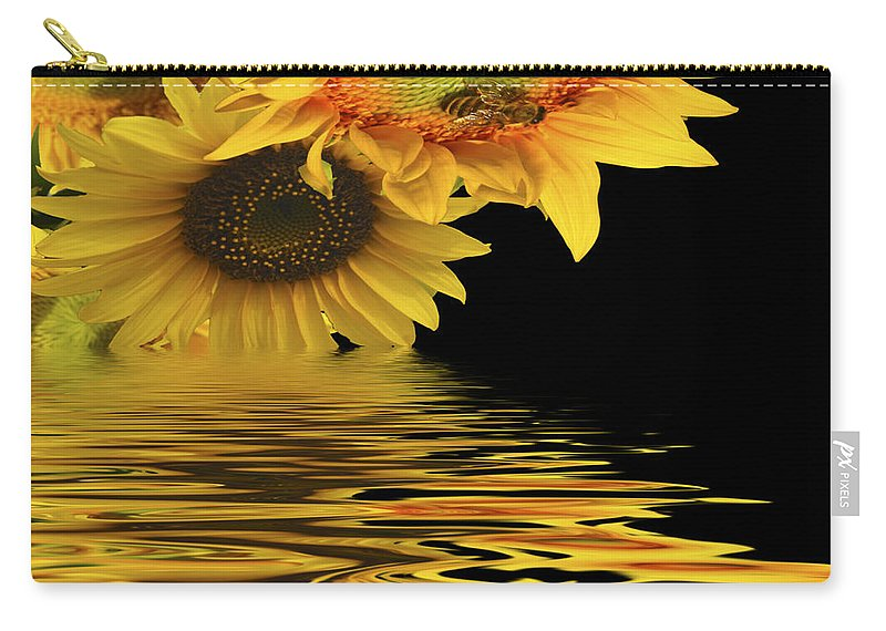 Sunflowers Carry-all Pouch featuring the digital art Melting by Diane Schuster