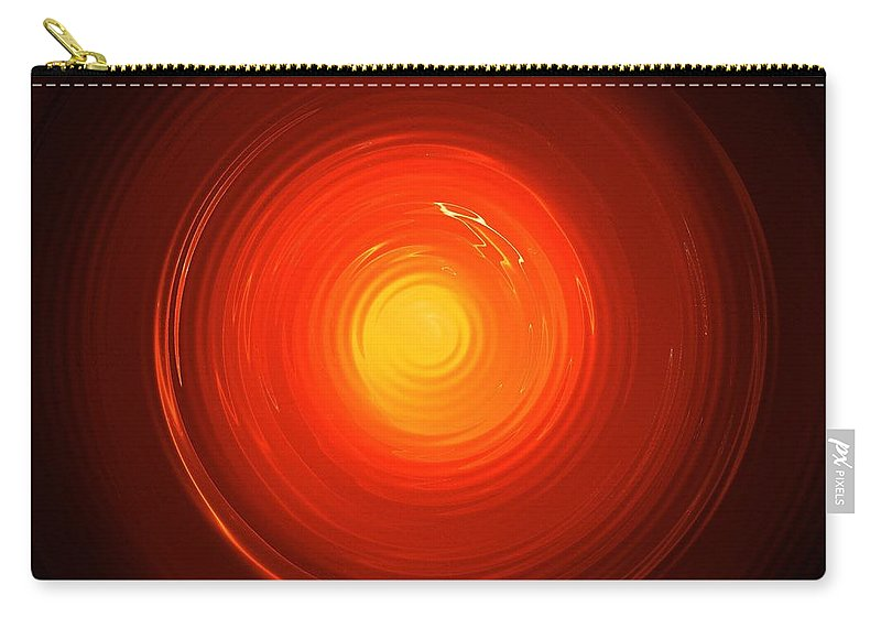 Glass Carry-all Pouch featuring the digital art Melting Glass by Steve K