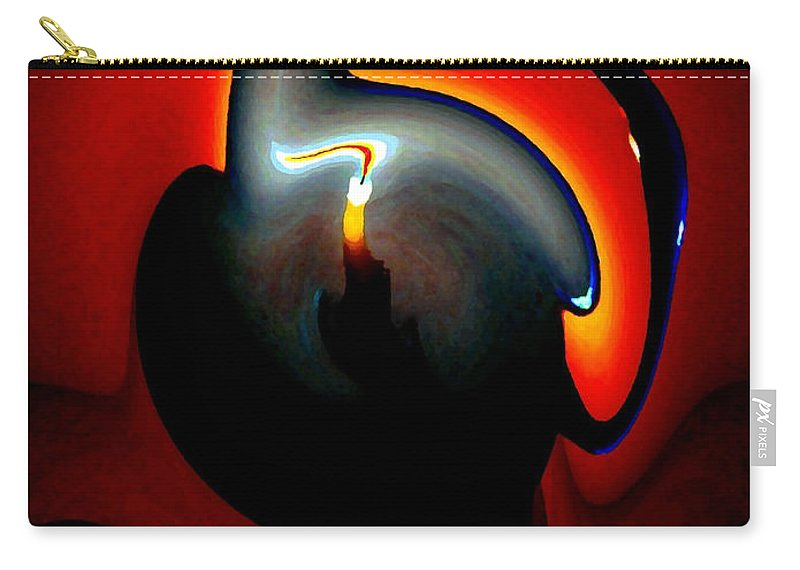 Dramatic Carry-all Pouch featuring the digital art Melting Point by Will Borden
