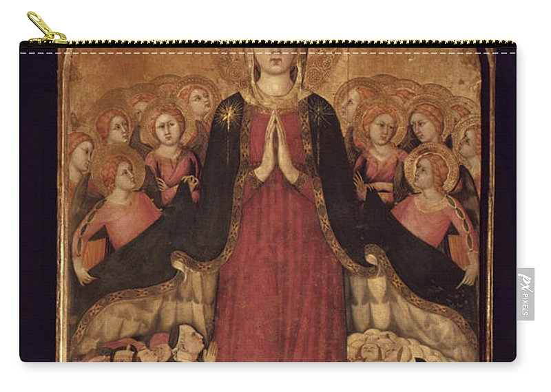 14th Century Carry-all Pouch featuring the photograph Memmi: Madonna In Heaven by Granger