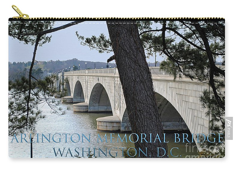 Arlington Carry-all Pouch featuring the photograph Memorial Bridge by Jost Houk