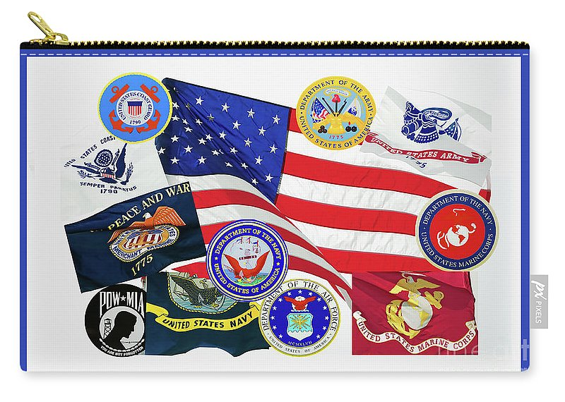 Usa Memorial Day Carry-all Pouch featuring the photograph Memorial Day Collage by Regina Geoghan