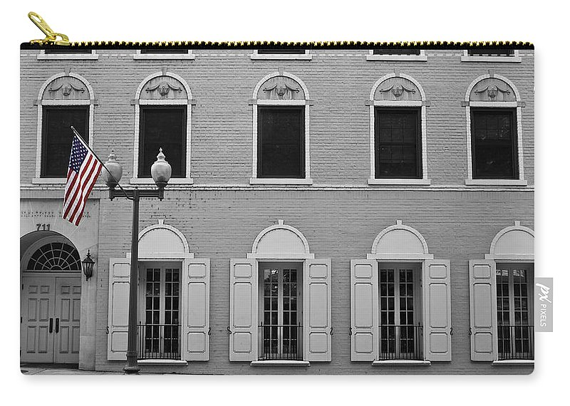 Roanoke Carry-all Pouch featuring the photograph Memorial Day Flag Roanoke Virginia by Teresa Mucha