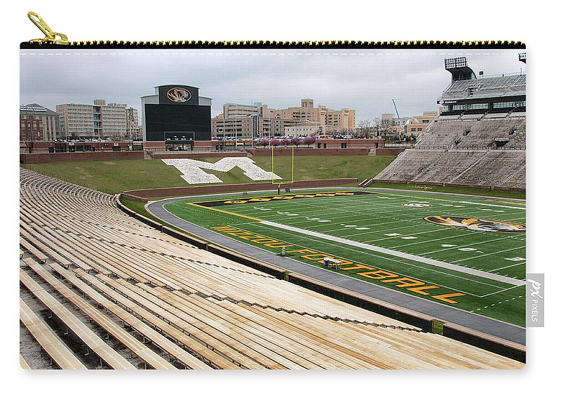 Faurot Field Carry-all Pouch featuring the photograph Memorial Stadium by Steve Stuller
