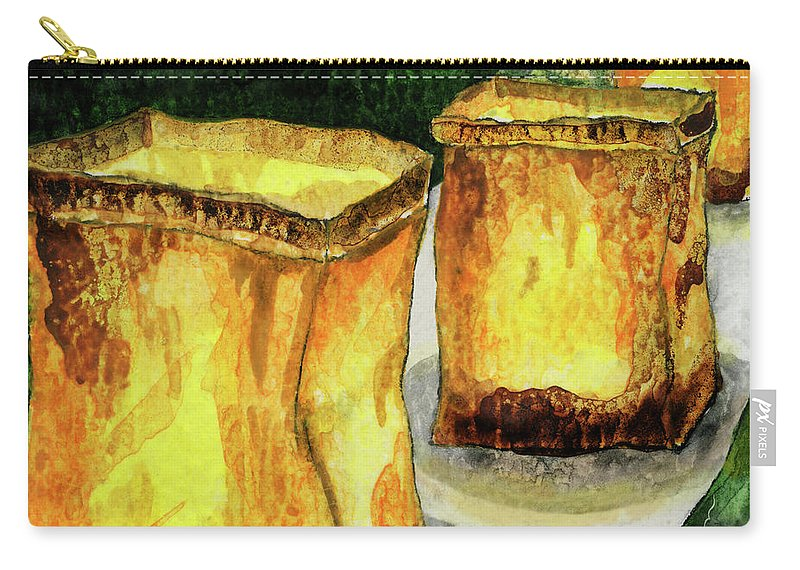 Candle Carry-all Pouch featuring the painting Memories Luminaria by Miko At The Love Art Shop