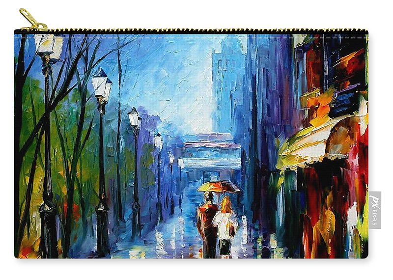 Afremov Carry-all Pouch featuring the painting Memories Of Paris by Leonid Afremov