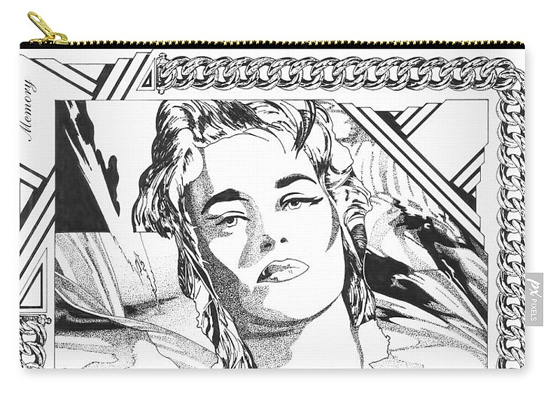 Dream Carry-all Pouch featuring the drawing Memory by Nenad Cerovic