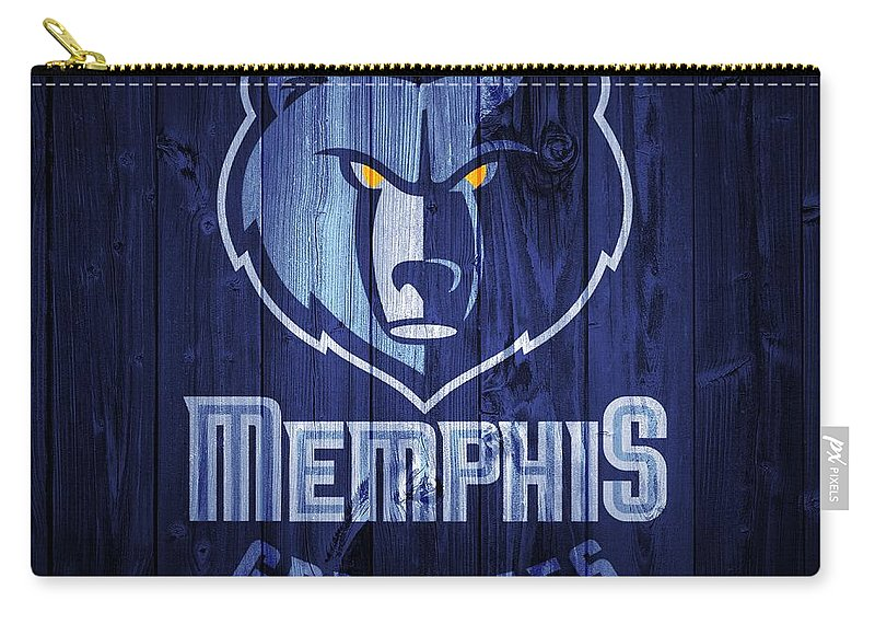 Memphis Grizzlies Barn Door Carry-all Pouch featuring the digital art Memphis Grizzlies Barn Door by Dan Sproul