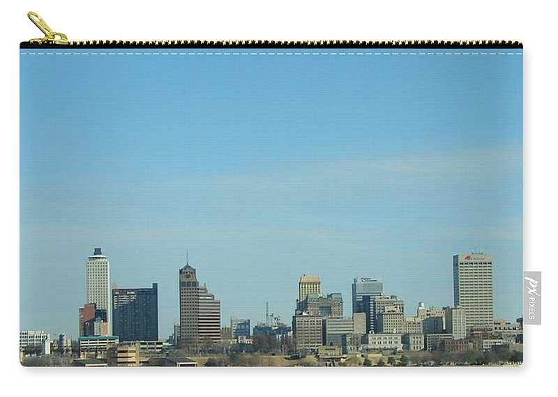 Memphis Carry-all Pouch featuring the photograph Memphis Skyline by J R Seymour