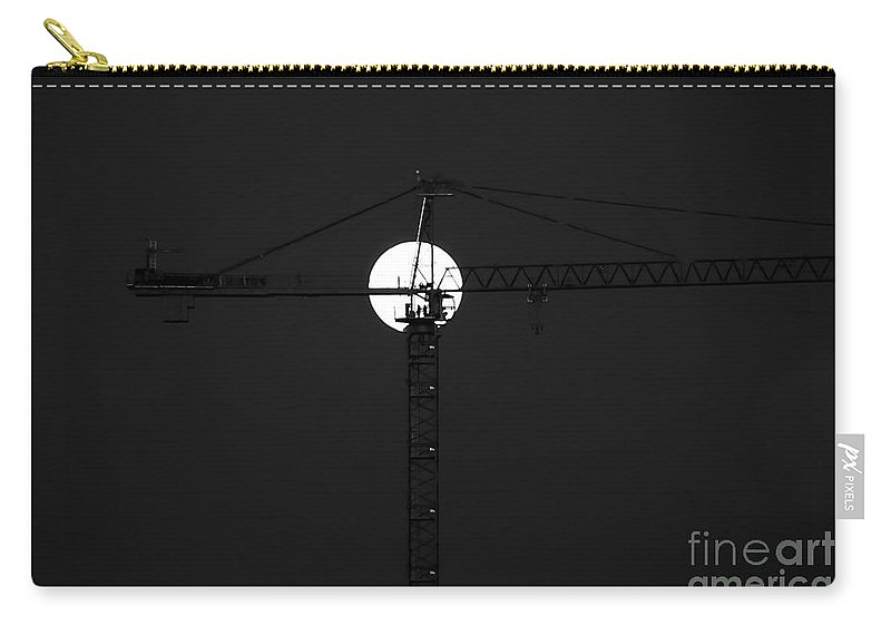 Moon Carry-all Pouch featuring the photograph Men In The Moon by David Lee Thompson