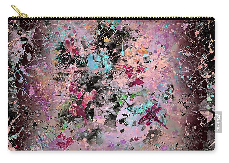 Abstract Carry-all Pouch featuring the digital art Menagerie by Rachel Christine Nowicki