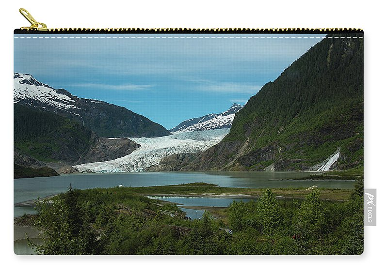 Alaska Carry-all Pouch featuring the photograph Mendenhall Glacier by Kathi Isserman
