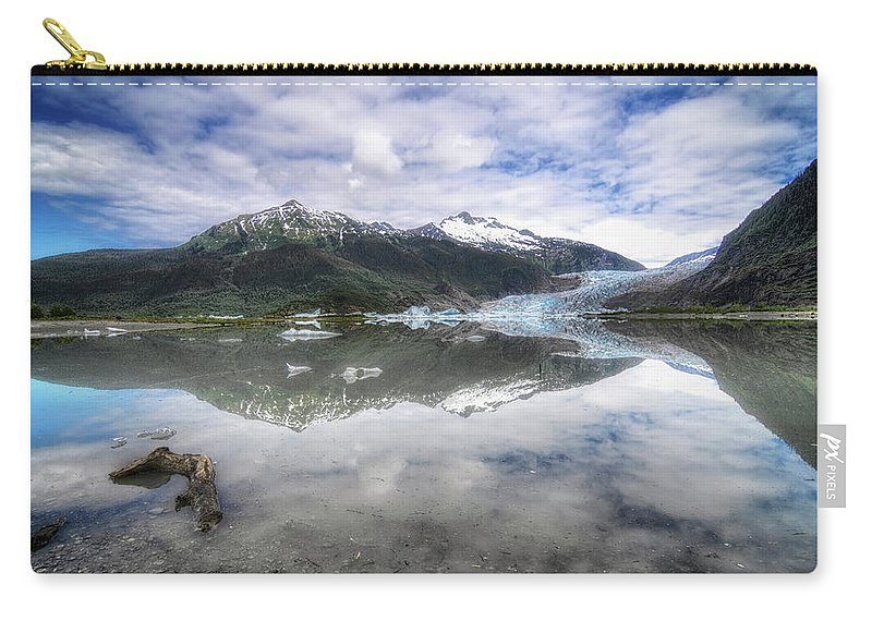 America Carry-all Pouch featuring the photograph Mendenhall Lake by Claudio Bacinello