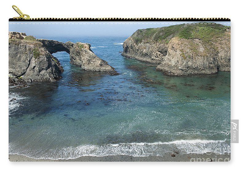 Bronstein Carry-all Pouch featuring the photograph Mendicino County Viewpoint by Sandra Bronstein
