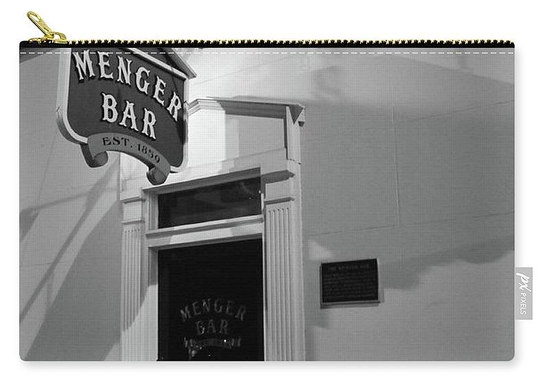 Bar Carry-all Pouch featuring the photograph Menger Bar by Robert A Jones