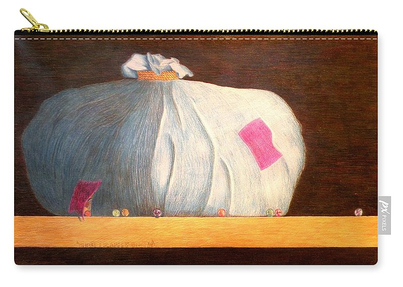 Still Life Carry-all Pouch featuring the painting Mental Escapees by A Robert Malcom