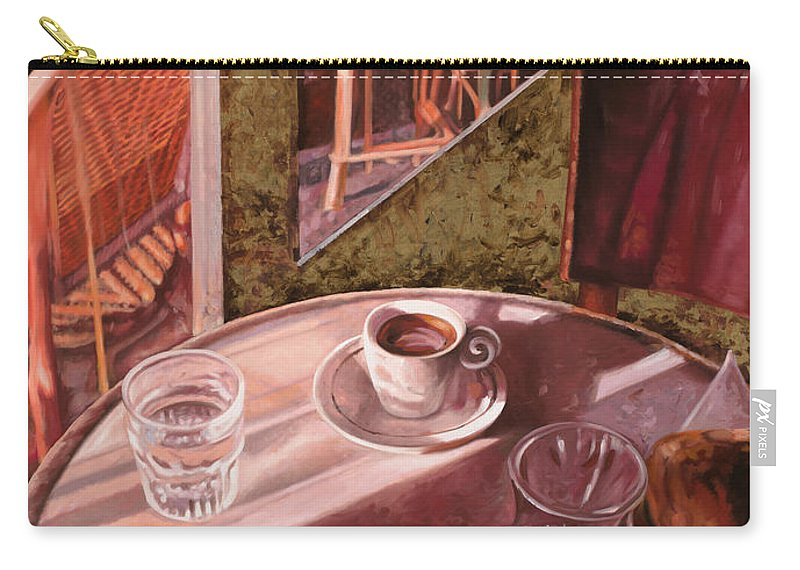 Caffe Carry-all Pouch featuring the painting Mentre Ti Aspetto by Guido Borelli