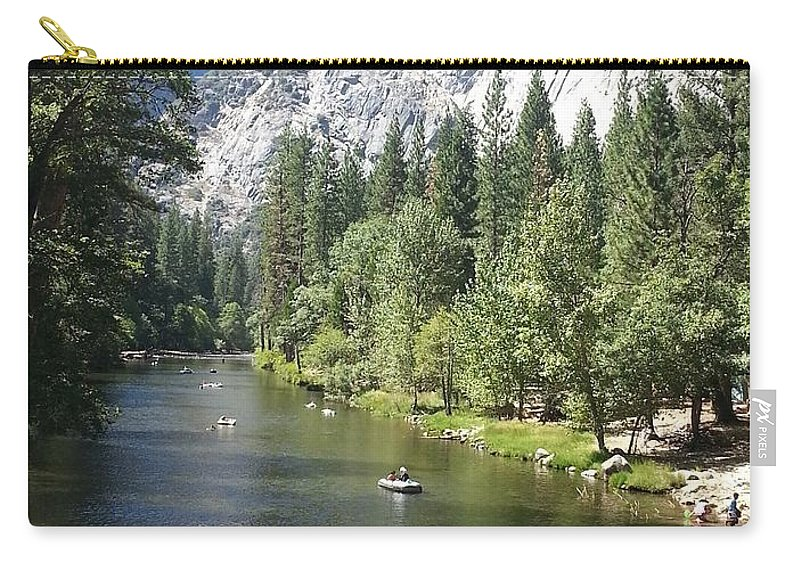 Merced River Carry-all Pouch featuring the photograph Merced River In Yosemite by Derek Ryan Jensen