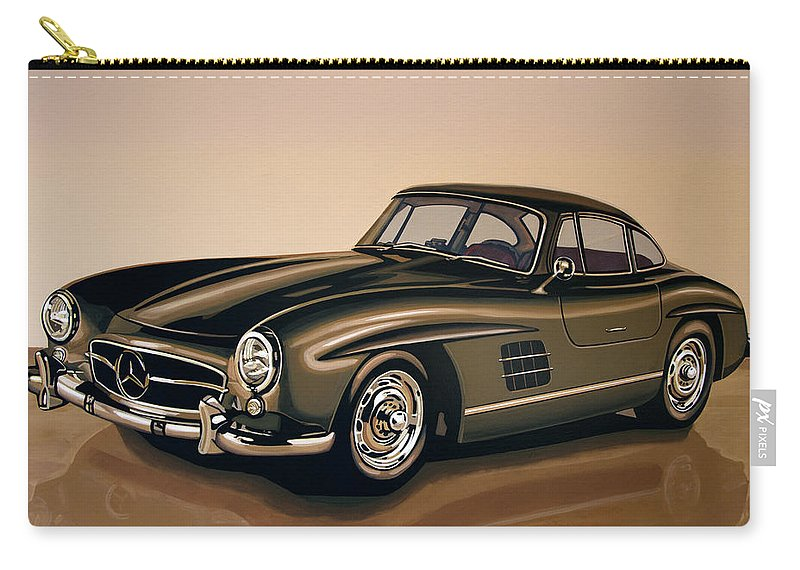 Mercedes Benz Carry-all Pouch featuring the painting Mercedes Benz 300 Sl 1954 Painting by Paul Meijering