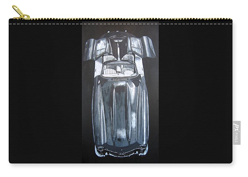 Car Carry-all Pouch featuring the painting Mercedes Benz Gullwing by Richard Le Page