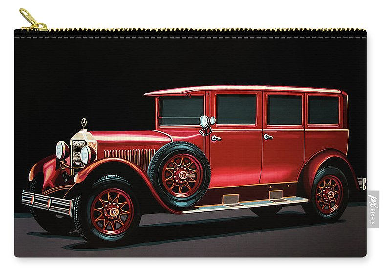 Mercedes-benz Typ 300 Carry-all Pouch featuring the painting Mercedes-benz Typ 300 Pullman Limousine 1926 Painting by Paul Meijering