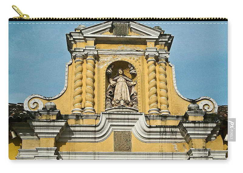 Merced Carry-all Pouch featuring the photograph Mercid Church Antigua Guatemala by Douglas Barnett