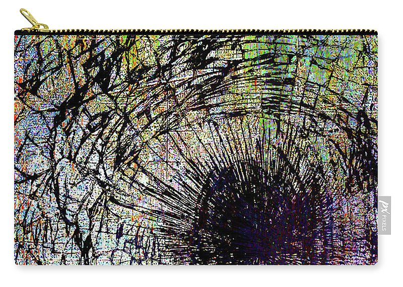 New York City Carry-all Pouch featuring the mixed media Mercy by Tony Rubino