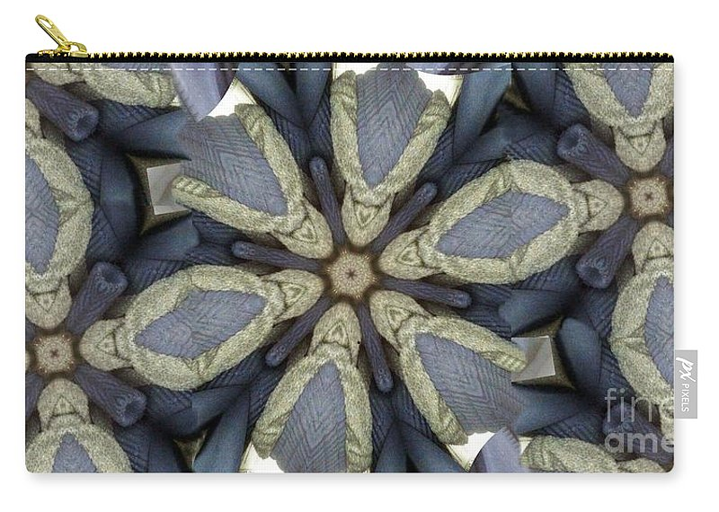 Kaleidoscope Carry-all Pouch featuring the digital art Merging by Ron Bissett