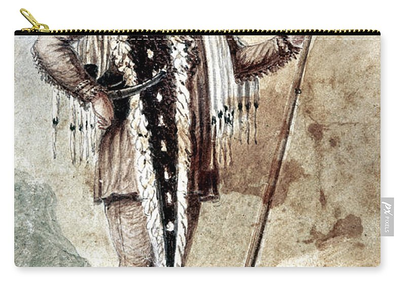 1809 Carry-all Pouch featuring the painting Meriwether Lewis by Granger