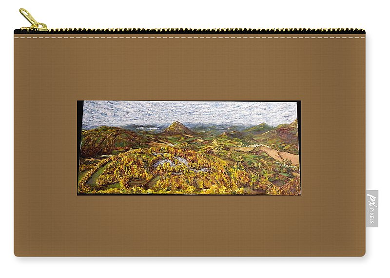 Landscape Carry-all Pouch featuring the painting Merlbortice by Pablo de Choros