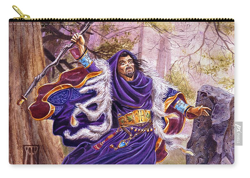 Artwork Carry-all Pouch featuring the painting Merlin by Melissa A Benson