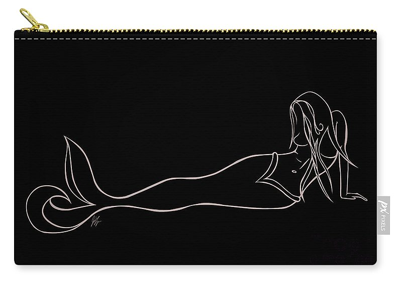 Carry-all Pouch featuring the digital art Mermaid by Jamie Lynn
